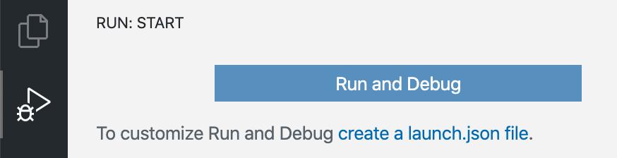 Run and Debug Activity Bar icon