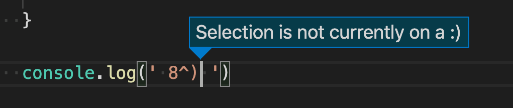 Showing the '.disabled' error in the editor
