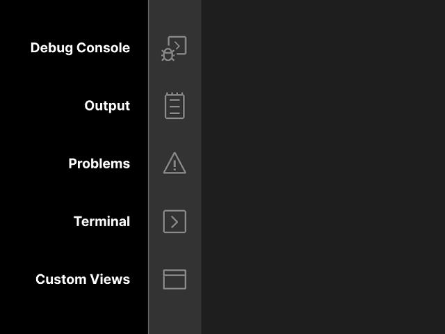 Panel view icons