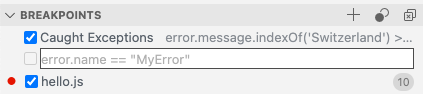 Breakpoint placeholder