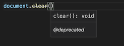 document.clear being marked as deprecated in code