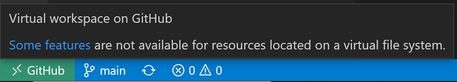 Hover over remote indicator for limited virtual workspace message