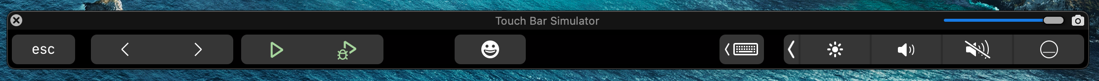 macOS Touch Bar icons