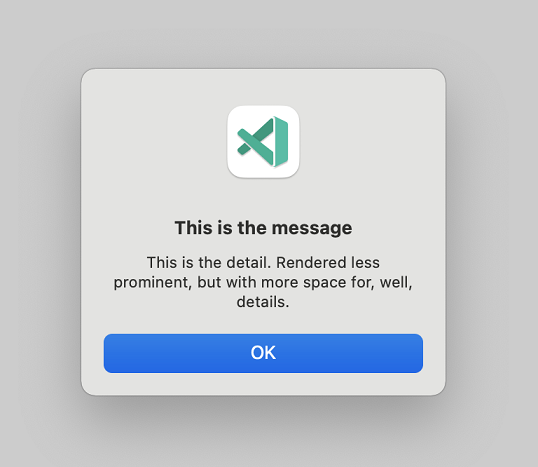 A modal dialog with details