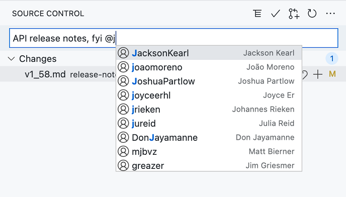 Completion for Github aliases with full names