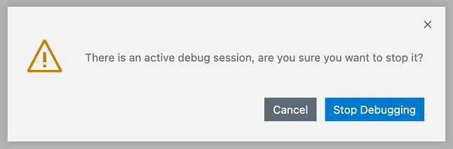 Confirm quit while debugging