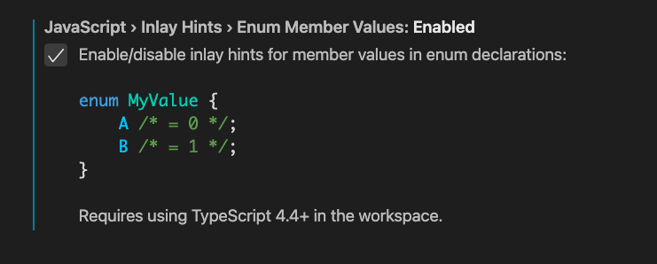 Syntax highlighting of TypeScript code in the Settings editor